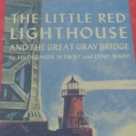 "The cover of ""The Little Red Lighthouse and the Great Gray Bridge."""