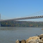 The bridge from the shoreline of upper Manhattan.