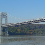 The western span of the bridge, looking on to the Palisades in NJ.