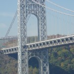 The western arch of the Great Gray Bridge, quite silvery on this fall day.