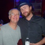 Philip Turner (l.), Casey Laforet of Elliott Brood