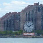 Colgate sign on Queens shoreline
