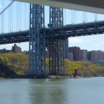 Nearing the GWB and the little red lighthouse.