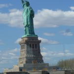 Statue of Liberty, burnished by sunshine.