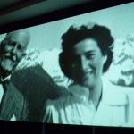 A special video display of still images helped introduce Ruth at the ICP dinner.