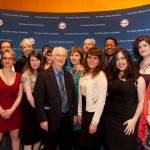 The blogging contingent at the 2012 Hillman Prizes:  Tom Watson, Lindsay Bernstein, Anna North, Philip Turner, Jill Filipovic, Jenn Pozner, Katie Halper;  Back row:  Mark Engler, Deanna Zandt, Sady Doyle, Amanda Marcotte (at very back), Adele Stan, Marc Faletti, Jamil Smith, Rebecca Spicuglia (Hillman)