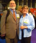Longtime publishing friends, sales reps, Chris Kerr and Linda Cannon.