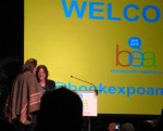 Patti & Neil arriving on stage.