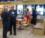 This picture shows an exchange I had with longtime publishing friend Roger Cooper, of Perseus's Vanguard Press.