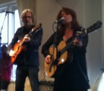 John Leventhal and Rosanne Cash--even in this crowded room with a less-than attentive audience their superb musicianship was evident.