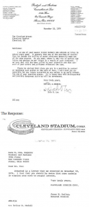 Cleveland Browns letters