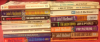 Spines of my 16 John D. MacDonald Fawcett paperbacks.