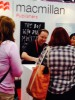 Again at the Macmillan booth, John Scalzi, a Hugo-award winner in science fiction, had many fans eager to get a signed copy of his new book from Tor Books.