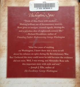 Washington's Spies back cover