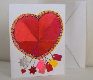 Heart card with tags
