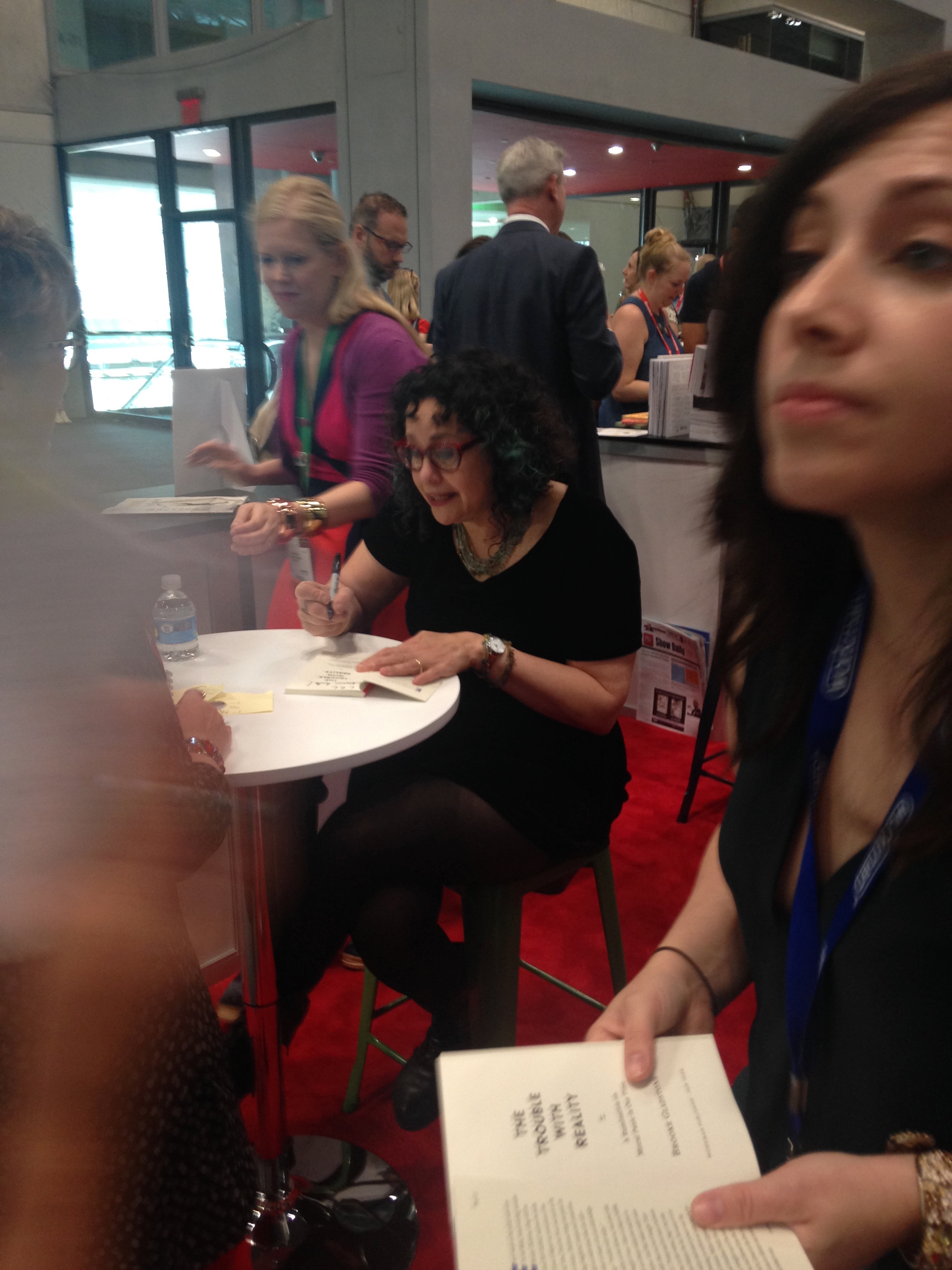 """Brooke Gladstone, Signing €�the Trouble With Reality"""""""